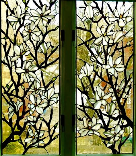 leaded glass floral windows  transoms  york
