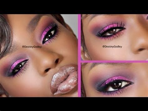 pink glitter makeup youtube