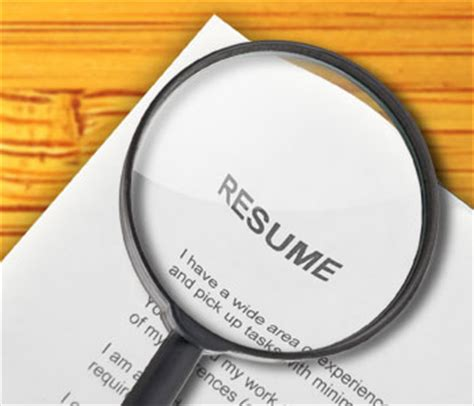 Lying On Resume Background Check by Why You Should Never Fib On Your Resume Career