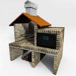 brick barbecue 3d 3ds
