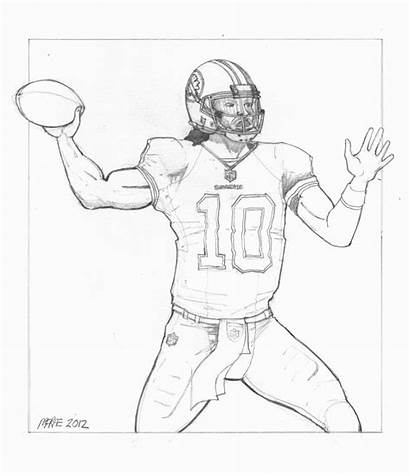 Coloring Pages Nfl Football Players Washington Redskins