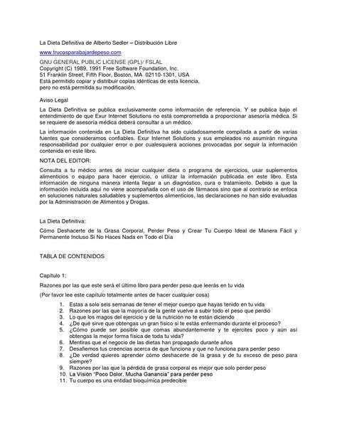 la dieta definitiva de alberto sedler by Fernando Tec - Issuu