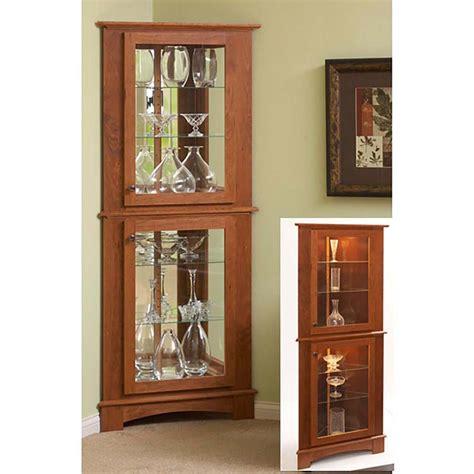 corner curio cabinet woodworking plan  wood magazine