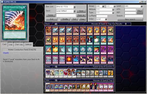 top tier decks yugioh october 2015 yu gi oh ygopro tcg deck laval artifact by ygopropro on