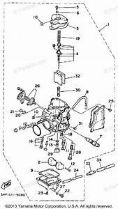 Yamaha Atv 1992 Oem Parts Diagram For Carburetor