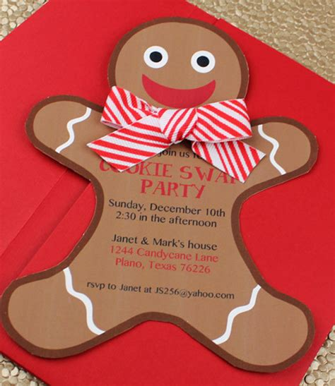 Cookie Invitation Template by Gingerbread Cookie Invitation Template
