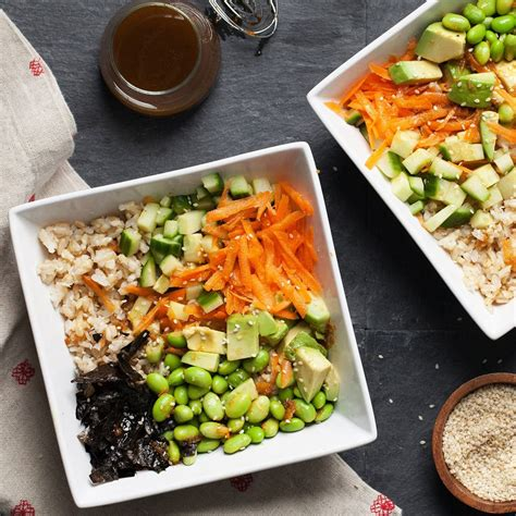 vegetarian sushi grain bowl recipe eatingwell