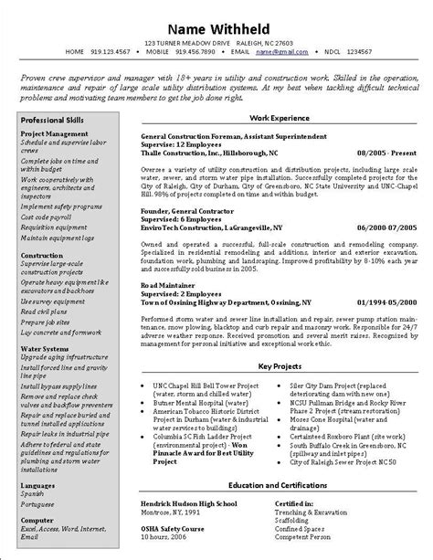 Best Resume Help by 20 Best Resume Formats For Experienced Resume Template