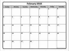 February 2018 calendar 51+ calendar templates of 2018