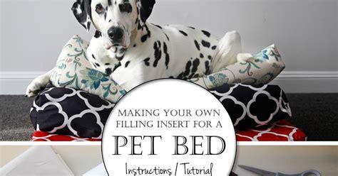 dalmatian diy making   simple dog bed insert cushions