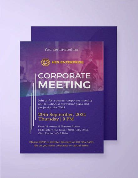 21+ Meeting Invitation Templates PSD Word AI InDesign