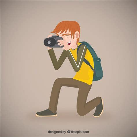 photographer illustration vector free download