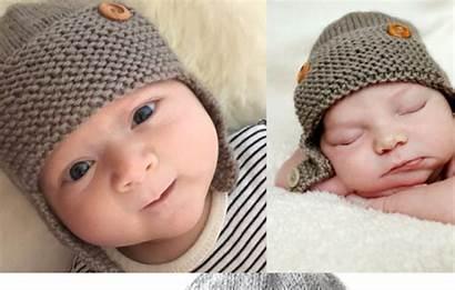 Hat Knit Pattern Aviator Boys Knitting Newborn