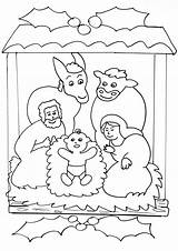 Nativity Scene Simple Coloring Christmas Crib Pages Drawing Children Young Scenes Preschool Colouring Story Noel Printable Toddlers Getdrawings sketch template