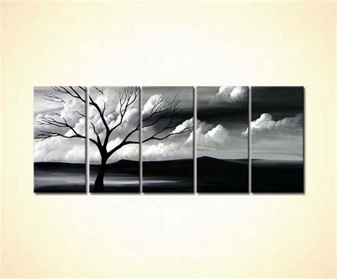 painting  sale black  white landscape
