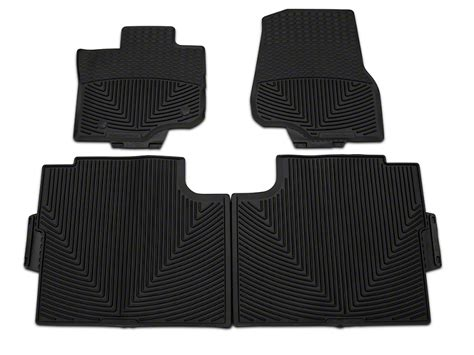 weathertech f 150 all weather front and rear rubber floor mats black w345 w346 15 17 supercab