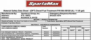 spartamax products dft diesel fuel treatment With diesel fuel msds