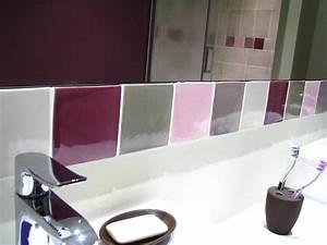 beautiful salle de bain fushia et vert contemporary With deco salle de bain gris et blanc