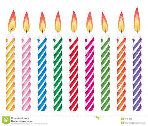 bougies d anniversaire photographie stock image 18454992