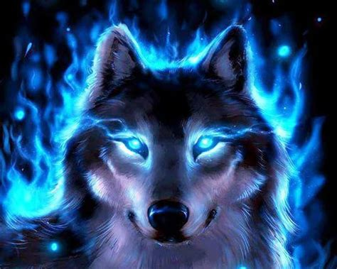 Blue And Purple Wolf Wallpaper by Cool Wolf Backgrounds Wallpapersafari