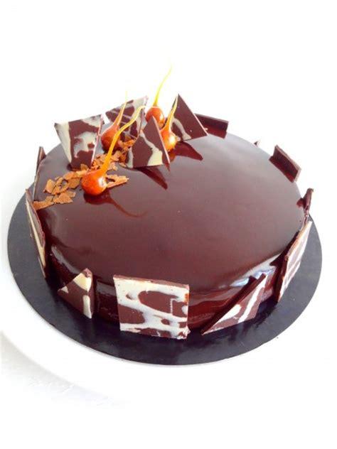 cuisine recette dessert royal au chocolat et glaçage miroir au cacao cap