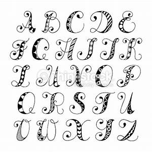 Sketch alphabet font vector art thinkstock for How to draw lettering book