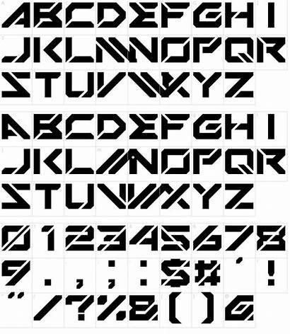 Font Mechsuit Fonts Character