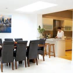 open plan kitchen diner ideas modern kitchen with open design and dining table housetohome co uk