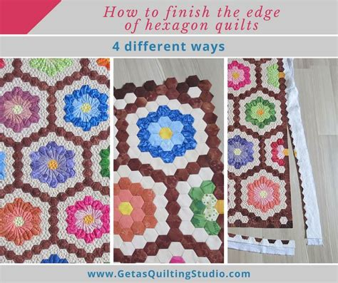how to finish a quilt how to finish the edge of the hexagon quilts geta s