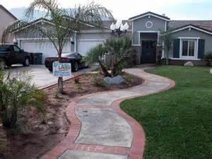 Front Yard Walkway Landscape