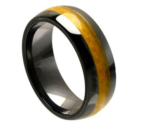 Men's Ceramic Wedding Ring Classic Comfort Fit Band New