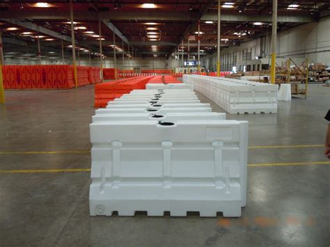 armorcast barriers plastic jersey barricades highway