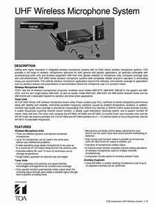 Manual Guide Toa Wireless Mic1