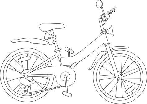 kostenlose malvorlage transportmittel fahrrad zum ausmalen
