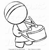 Coloring Person Chinese Drummer Drum Vector Clipart Outlined Pages Bongos Bongo Blanchette Leo Template Hippie Clipartmag sketch template