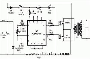 Inverter Circuit Using Cd4047  With Images