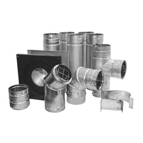 shop dura vent black and silver 3 in pellet stove vent kit at lowes com
