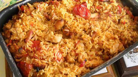 cuisine espagnole facile riz au poulet et légumes recette az