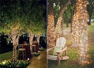 guirlande lumineuse exterieur 50 idees deco a emprunter With eclairage exterieur pour arbre