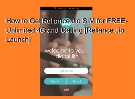 how to get reliance jio sim for free unlimited 4g and calling reliance jio launch