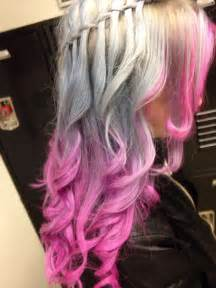 Pink and Silver Hair Color