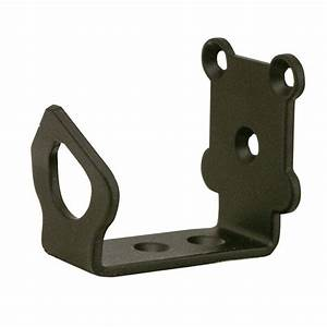 Everbilt oil rubbed bronze adjustable c guide 12131 the for Barn door floor bracket