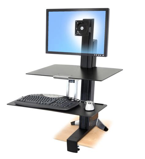 ergotron standing desk accessories workfit s single hd sit stand workstation with worksurface