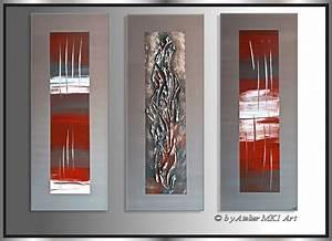 Moderne Kunst Leinwand : mk1 art bild leinwand abstrakt gem lde kunst malerei modern bilder grau rot xxl ebay ~ Sanjose-hotels-ca.com Haus und Dekorationen