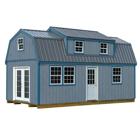 metal shed kits home depot lakewood 12 ft x 24 ft wood storage shed kit with floor