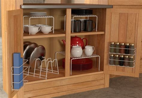 6 Piece Kitchen Cabinet Pantry Shelf Organizer  Door