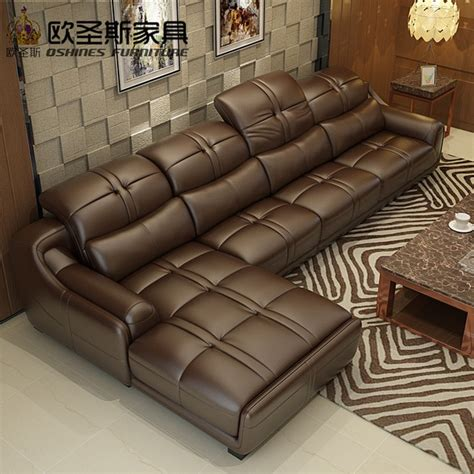41119 modern corner sofa set designs brown leather sofa set contemporary leather sofa
