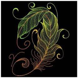 Neon Feather Swirl Embroidery Designs Machine Embroidery