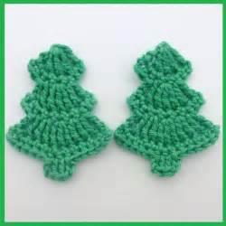 christmas crochet appliques 2 handmade crochet christmas trees