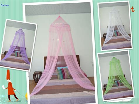 *round Hoop* With Daisies Bed Canopy Mosquito Net For Crib